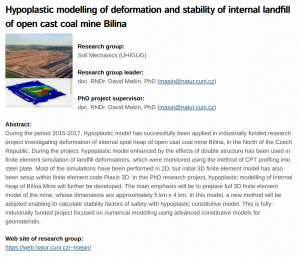 PhD position at Charles University in Prague: Modelling of Slope Stability using Hypoplastic Model