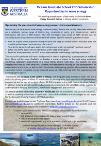 Three PhD opportunities at UWA, Australia