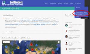 Website editing capability for SoilModels members!