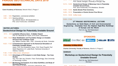 Prague Geotechnical Days 2019 – May 13-14