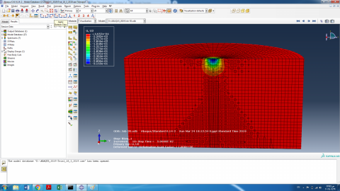 Dynamic Compaction Simulation by ABAQUS